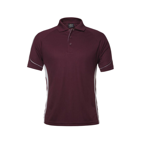 Bell Polo - Maroon/White
