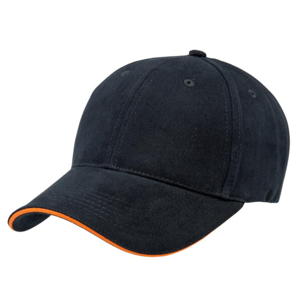 Basic Two Tone Cap - Navy/Orange