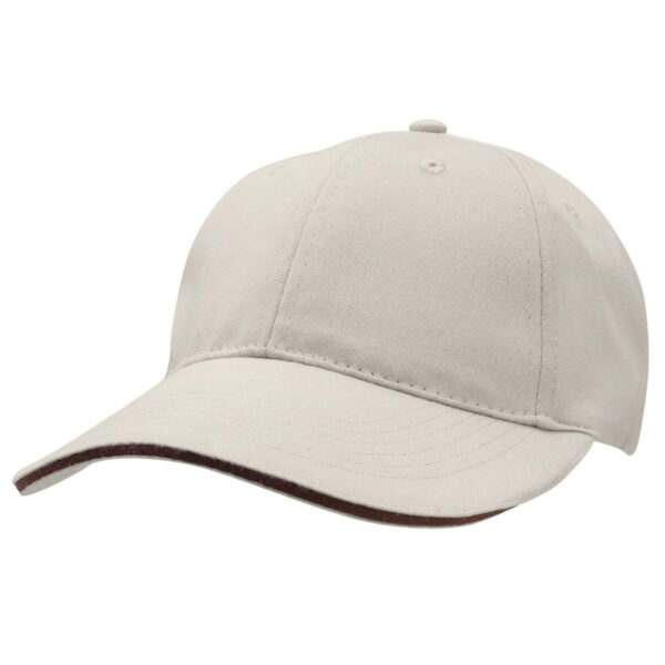 Basic Two Tone Cap - Stone/Dark Brown
