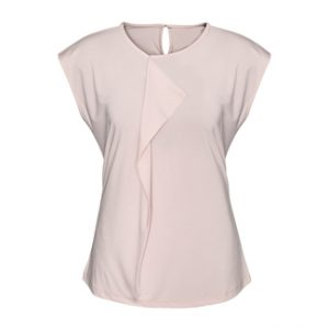 Mia Pleat Knit Top - Blush