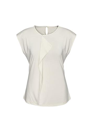 Mia Pleat Knit Top - Ivory