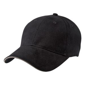 Two Tone Cap Black Grey