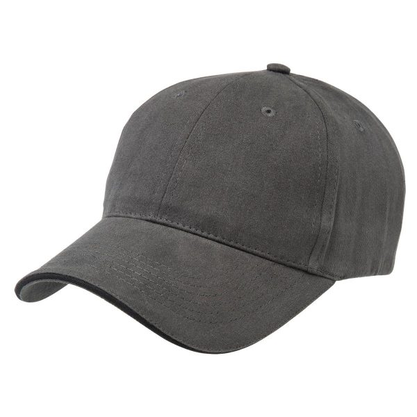 Basic Two Tone Cap - Charcoal/Black