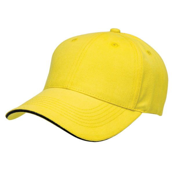 Basic Two Tone Cap - Yellow/Black