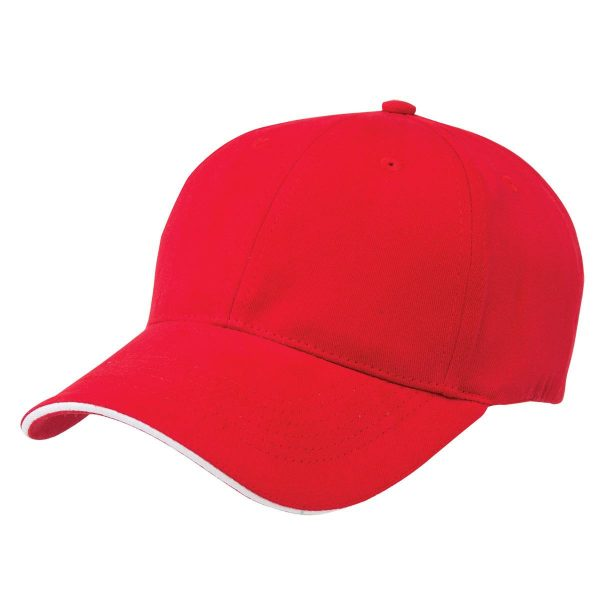 Basic Two Tone Cap - Red/White