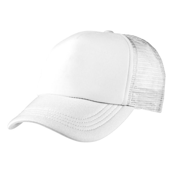 Foam Mesh Trucker Cap - White/White