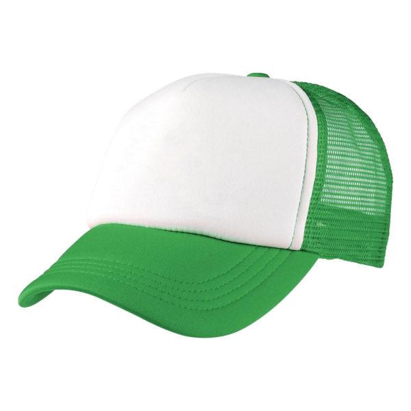 Foam Mesh Trucker Cap - Green/White
