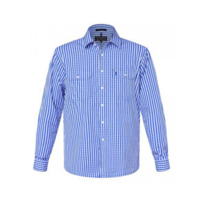 Men's Check Pilbara Shirt - Blue