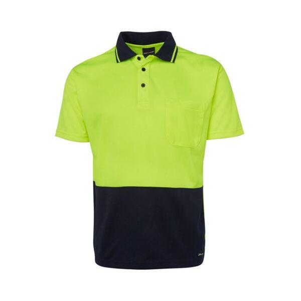 Hi Vis Non Cuff Polo - Yellow/Black