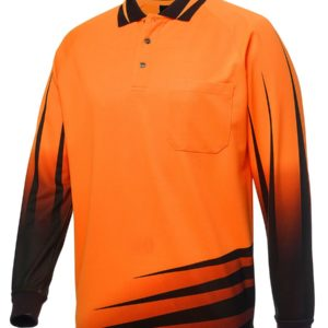 Rippa Sub Long Sleeve Polo - Orange
