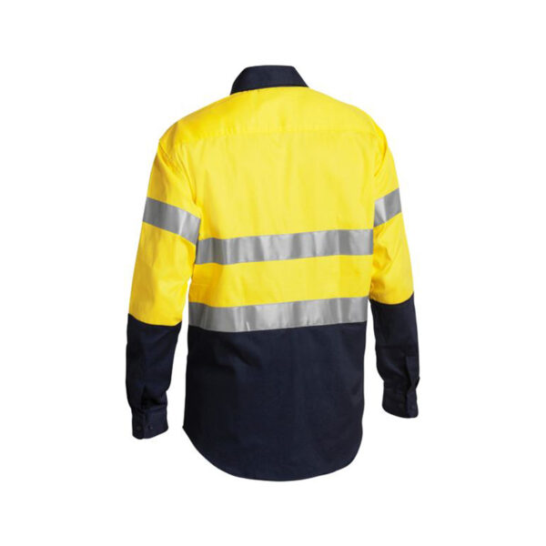 Bisley Taped Work Shirt Back- Yellow/Navy