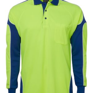 Hi Vis Polo - Yellow/Royal
