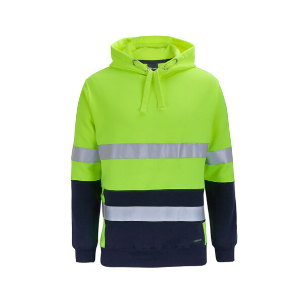 Hi Vis Taped Pullover Back - Lime