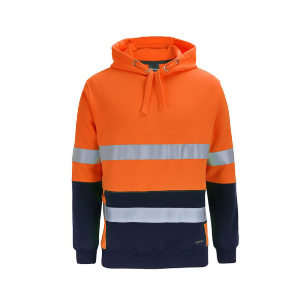 Hi Vis Taped Pullover - Orange/Navy