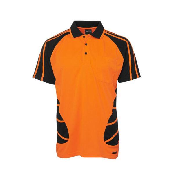 Hi Vis Spider Polo - Orange/Black
