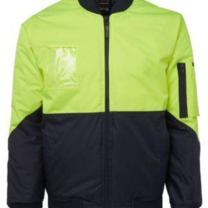 Hi VIs Flying Jacket - Yellow/NAvy