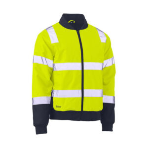 Bisley Hi Vis Taped Bomber Jacket - Yellow