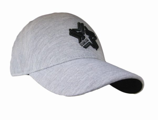 Decorated Seamless Cap - Grey