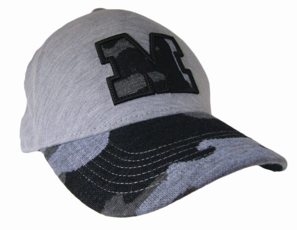 Decorated Seamless Cap - Grey/Camo