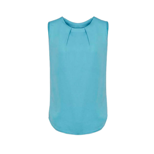 Estelle Pleat Blouse - Aqua