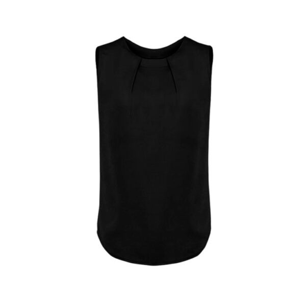 Estelle Pleat Blouse - Black