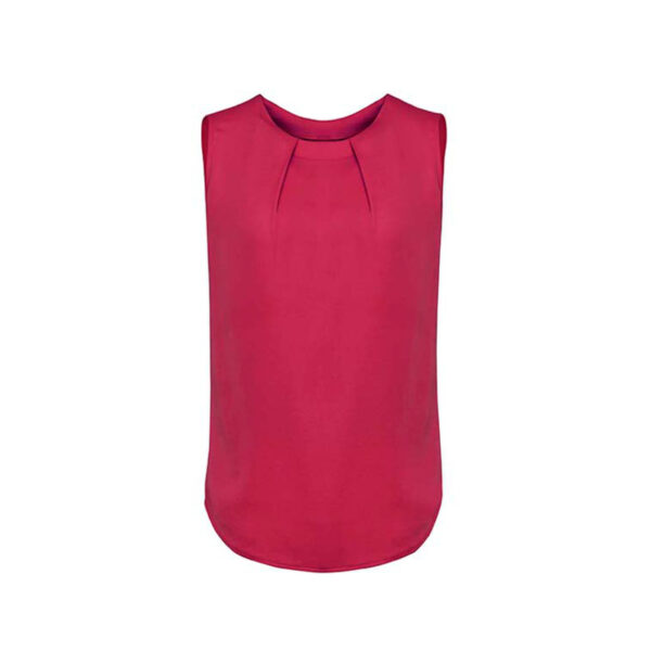 Estelle Pleat Blouse - Rasberry