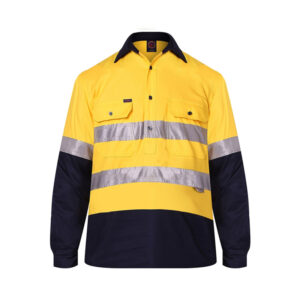 Hi Vis Closed Front Tape - Yellow/Navy