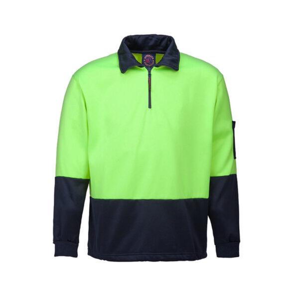 Hi Vis Half Zip Pullover - Yellow/Navy