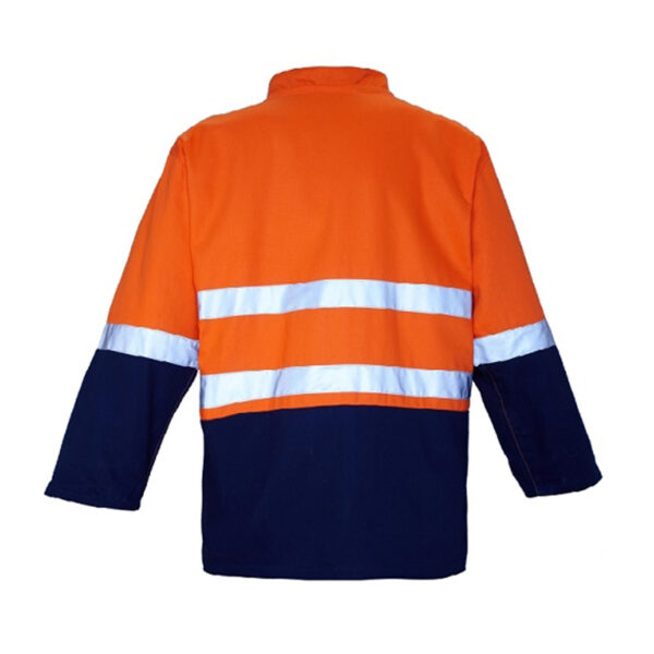 4 in 1 Taped Jacket Back- Orange/Navy