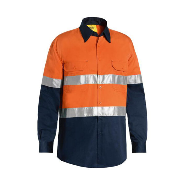 Bisley Hi Vis Lightweight - Orange/Navy