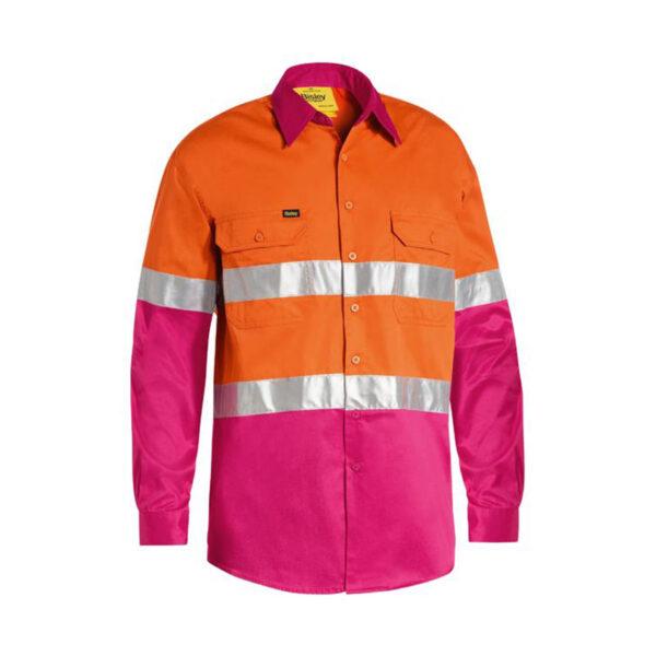 Bisley Hi Vis Lightweight - Orange/Pink