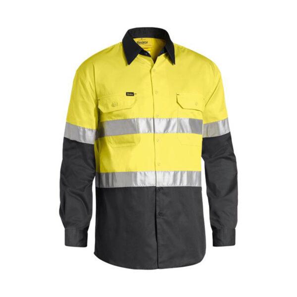 Bisley Hi Vis Lightweight - Yellow/Charcoal