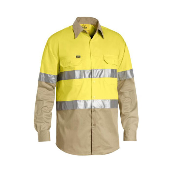 Bisley Hi Vis Lightweight - Yellow/Khaki