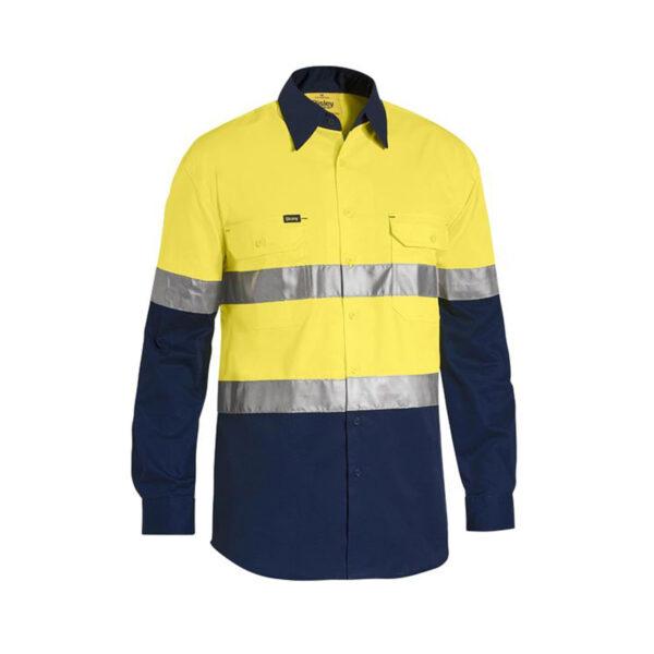 Bisley Hi Vis Lightweight - Yellow/Navy