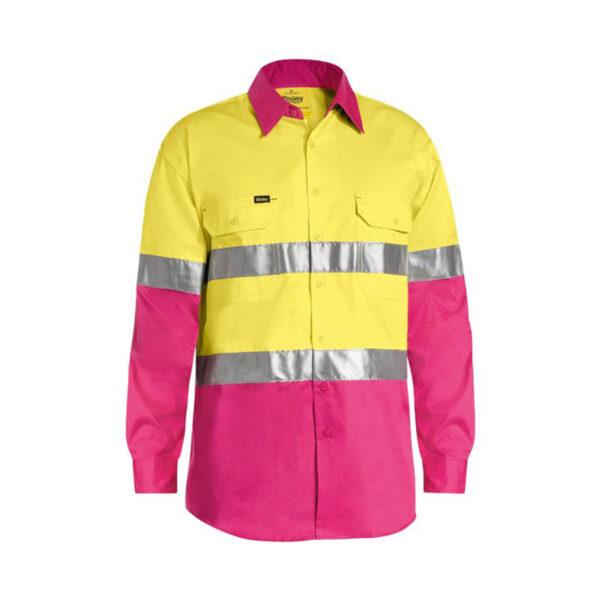 Bisley Hi Vis Lightweight - Yellow/Pink