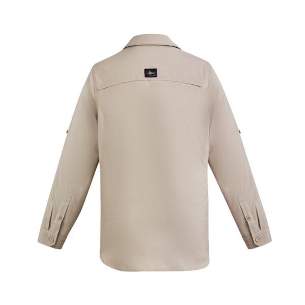 Outdoor Long Sleeve Shirt Back - Sand