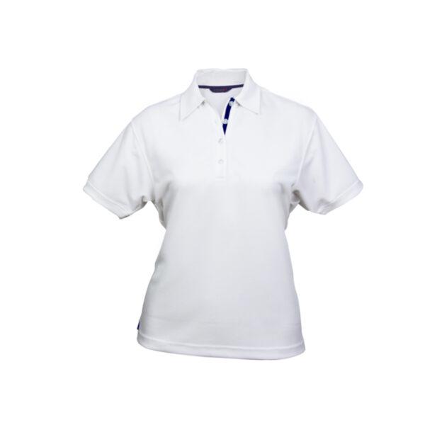 Ladies Superdry Polo - White