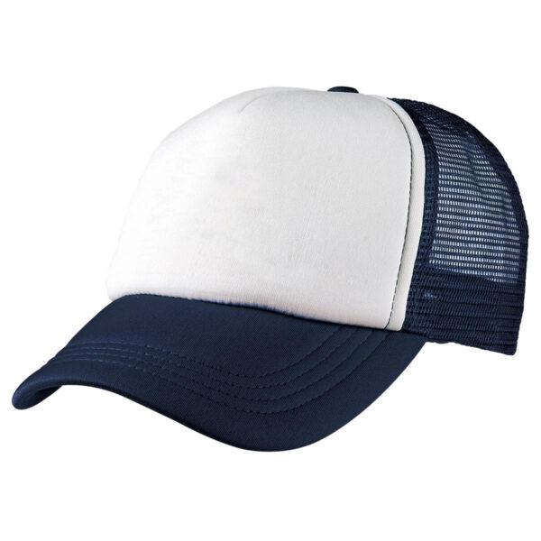 Foam Mesh Trucker Cap - Navy/White