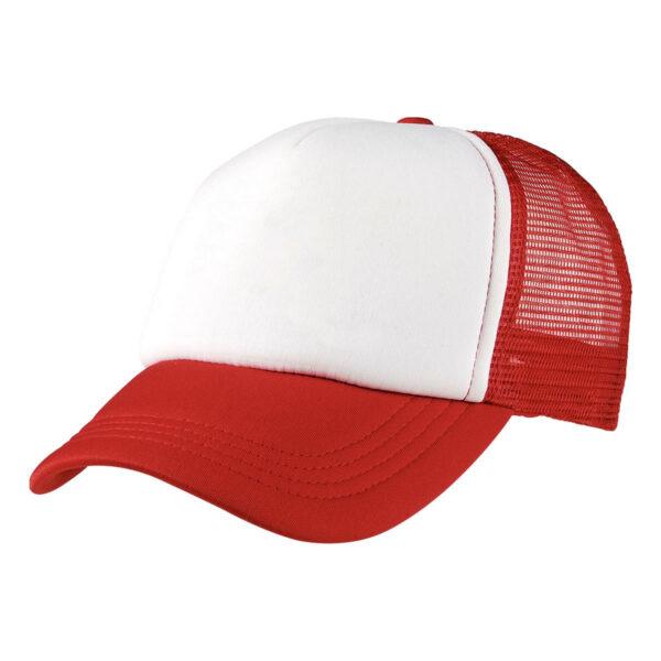 Foam Mesh Trucker Cap - Red/White