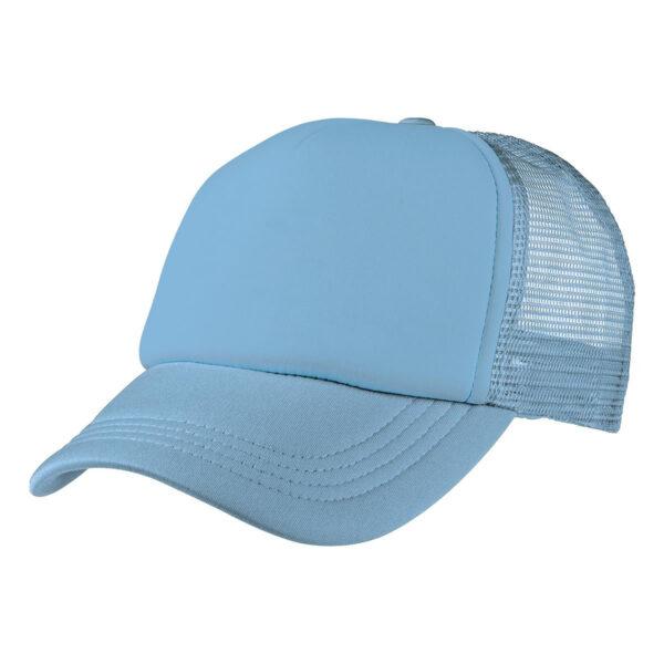 Foam Mesh Trucker Cap - Sky Blue