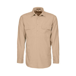 Pilbara Closed Front Shirt - Clay