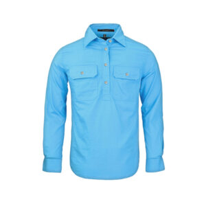 Pilbara Ladies Closed Front Shirt - Cornflower