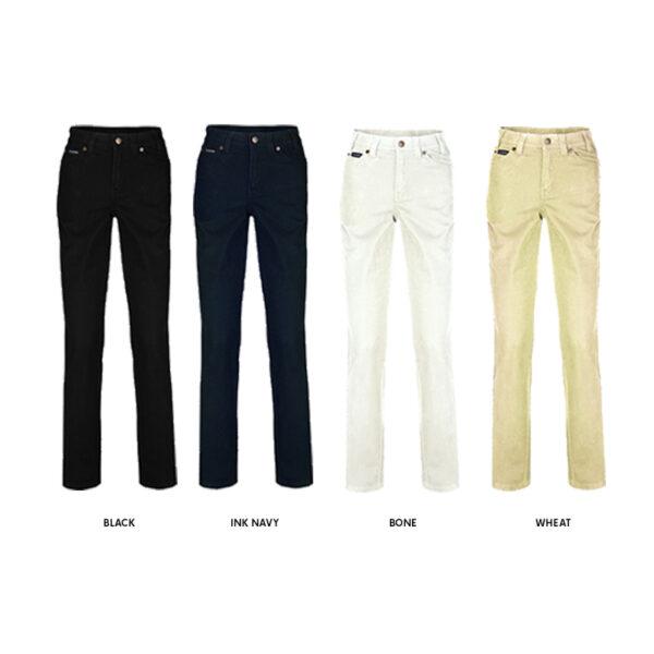 Pilbara Ladies Cotton Stretch Jeans - Assorted