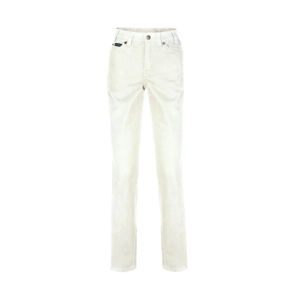 Pilbara Ladies Cotton Stretch Jeans - Bone