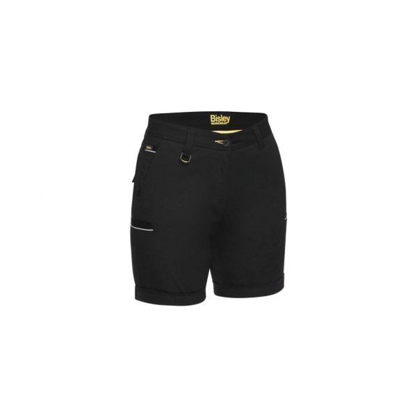 Bisley Womens Stretch Cotton Short - Black