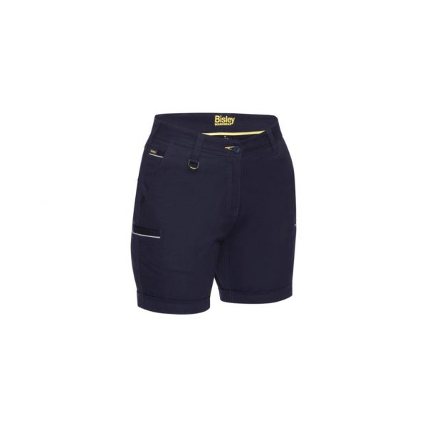 Bisley Womens Stretch Cotton Short - Navy