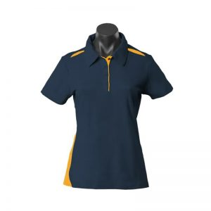 Paterson Ladies Polo - NavyGold