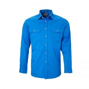 Pilbara Open Front Shirt - LightBlue
