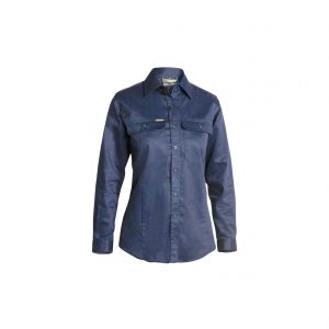 Bisley Womens Drill Shirt - Front