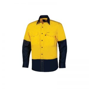 The New Lightweight RMX Flex Fit Yellow Work Shirt - Red Roo Australia